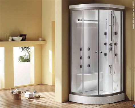 Corner Bath With Shower Enclosure steam shower cabin the cascade
