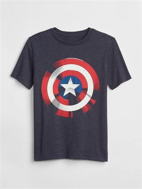 Exc Gap Boys Captain America gap boys gapkids marvel 169 graphic t shirt captain america