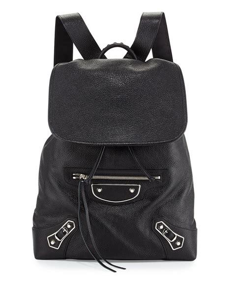 Kaos Kerah Dolce Gabbana Mirror 1 1 Balenciaga Metallic Edge Nickel Goatskin Backpack In Black
