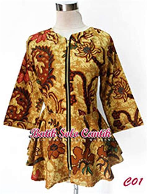 Baju Muslim Wanita Tunik Kemeja Abaya Shirt Dusty blus batik modern model peplum baju kerja batik