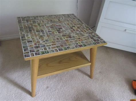 Decoupage Coffee Table - decoupage postage st coffee table our craft