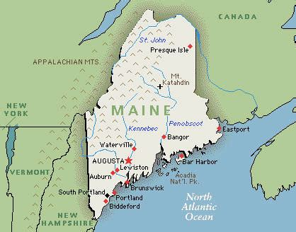 usa map states maine maine ski resorts united states