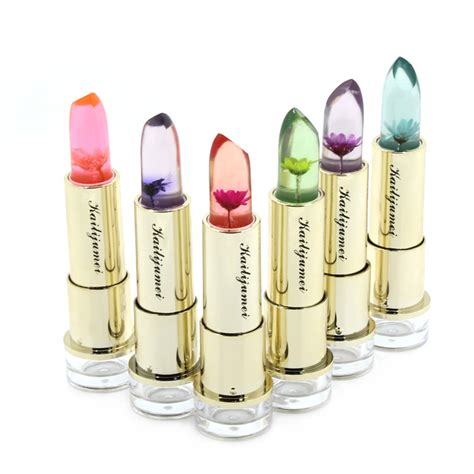 Lipstick Purbasari Original No 81 Limited original kailijumei transparent flower jelly lipstick temperature change color with