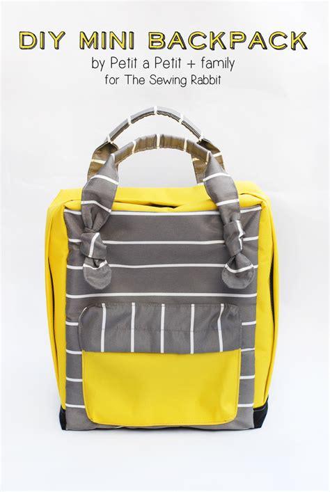 how to make a one backpack diy mini backpack sewing