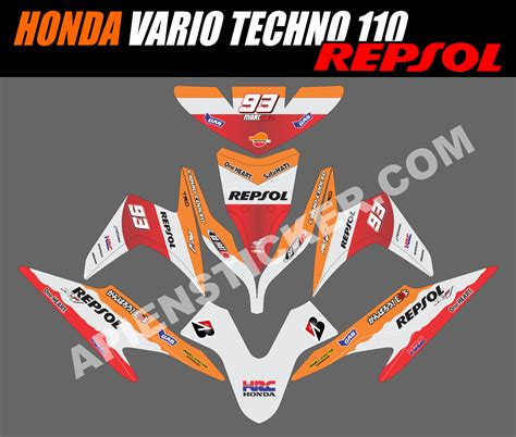 Sticker Striping Motor Stiker Honda Vario Fi 217 Biru Spec A striping motor vario techno 110 repsol apien sticker
