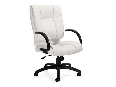furmax ribbed office chair white leather conference chairs high back conference