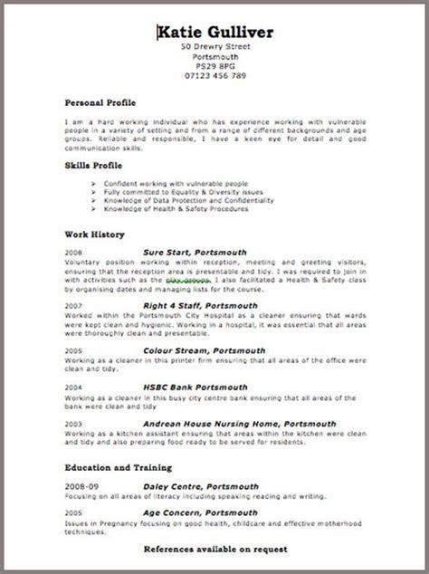 free curriculum vitae blank format free