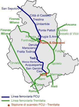 treni fs 171 l umbria treni fs su linea fcu mazzoncini 171 da perugia a roma si