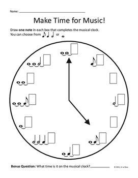 sen printable clocks collection of notes worksheet bluegreenish