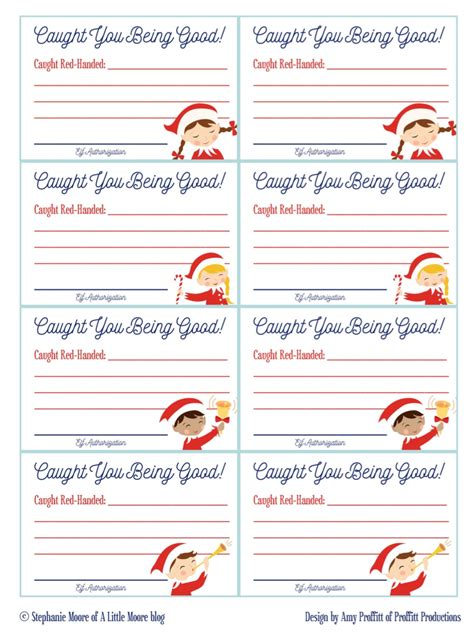 printable christmas elf reward chart elf on the shelf caught you being good tickets a little