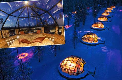 northern lights to observe from glass igloo finland