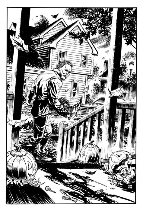Michael Myers By Deankotz On Deviantart Michael Myers Coloring Pages