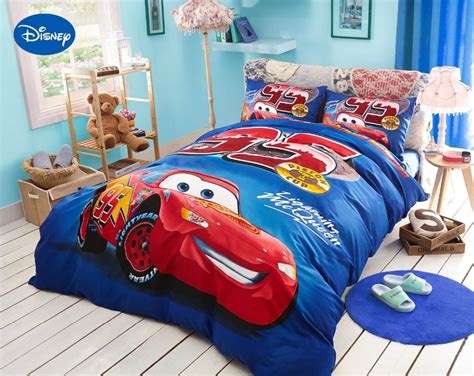 Lighting Mcqueen Bedroom Aliexpress Buy Blue Disney Lightning Mcqueen Printed Bedding Sets For Childrens