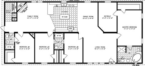 beautiful 4 bedroom mobile home floor plans new home