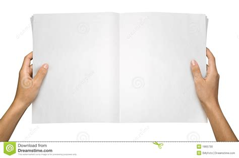 How To Make Paper Holding - reading a newspaper stock photo image 1865730
