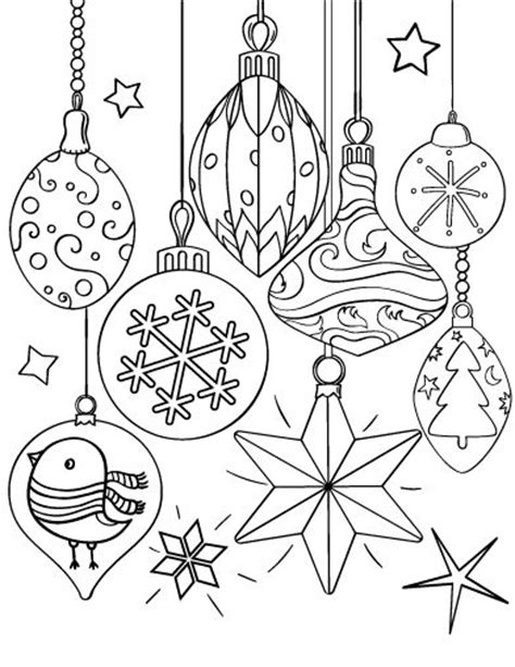 printable christmas ornaments pinterest printable christmas ornament coloring page free pdf