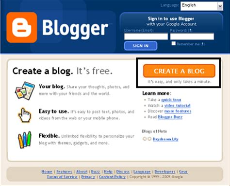 how to create a blogger blog blogger tutorials tips