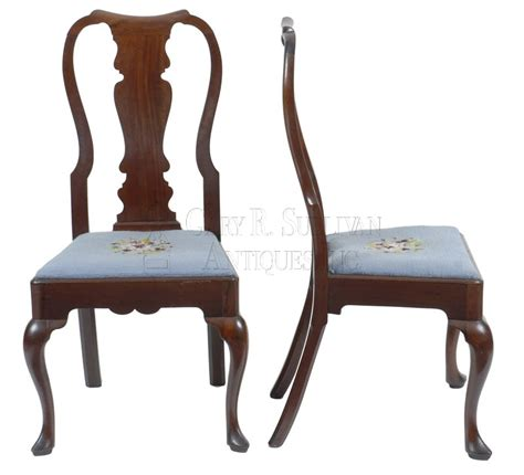 Antique Chippendale Dining Chairs Pair Of Chippendale Dining Chairs Newport Ri Clocks 007038 Gary Sullivan Antiques