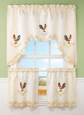 french country rooster curtains embroidered french country rooster curtain set from