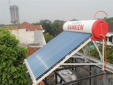 Water Heater Solar Cell Sanken jual daftar harga brosur spesifikasi pemanas air tenaga