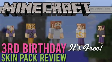 Vinyl 5 5 Pelindung Skun Pack 1 minecraft 3rd birthday skin pack review