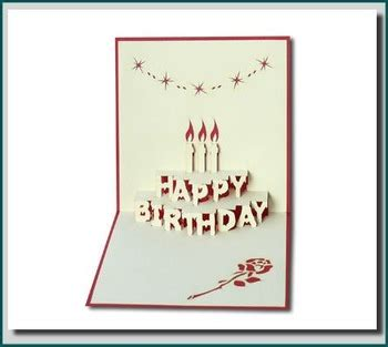 3d I You Card Template by Birthday Cake In 3d Pop Up Greeting Card Buy Pop Up