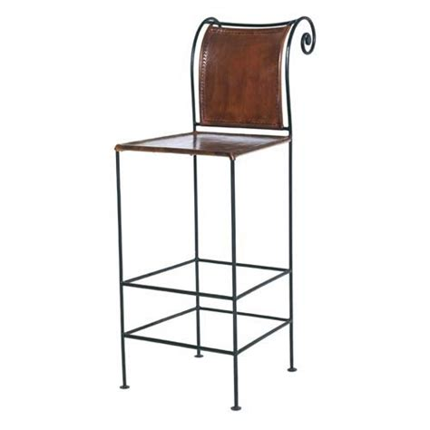 bar stools for 44 inch counter william sheppee iron leather bar stool