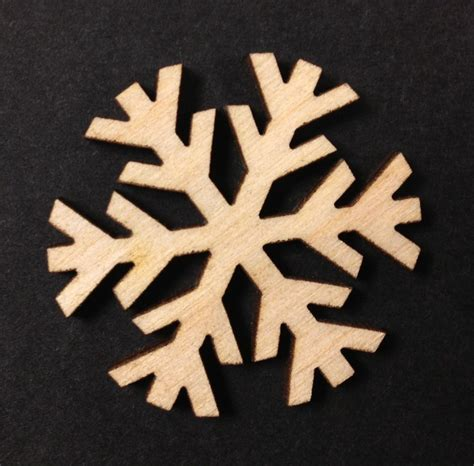Wooden Snowflakes Xmas Decoration 60mm Pack of 10