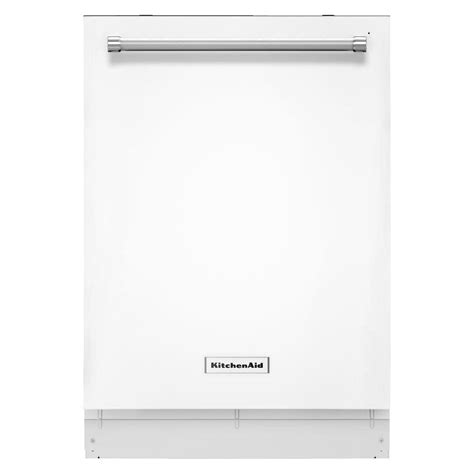 replace white appliances with stainless steel kitchenaid top control dishwasher in white with stainless