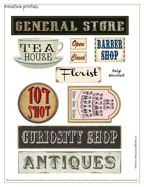 printable dolls house shop signs 643 best miniature shops images on pinterest shoe art