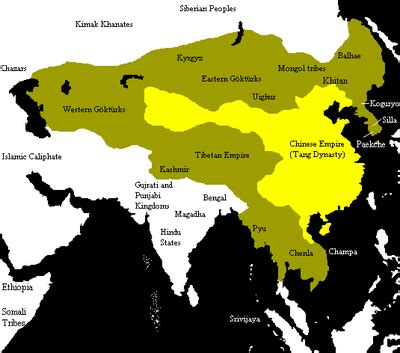 tang dynasty map ethnic groups in history