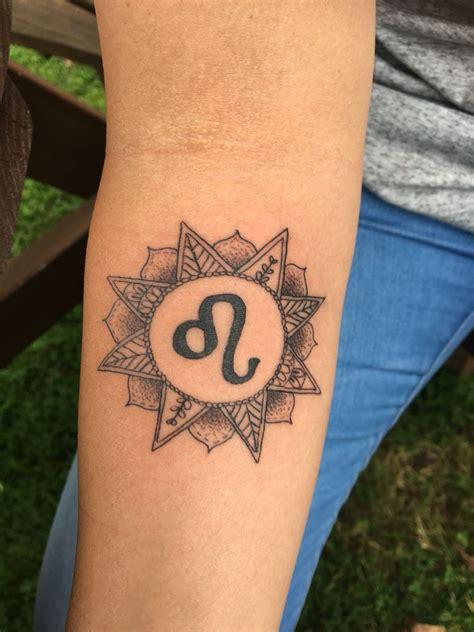 leo sign tattoos mandala zodiac leo sun tattoos