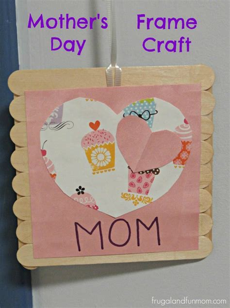 day gift photo s day frame craft made with popsicle sticks and