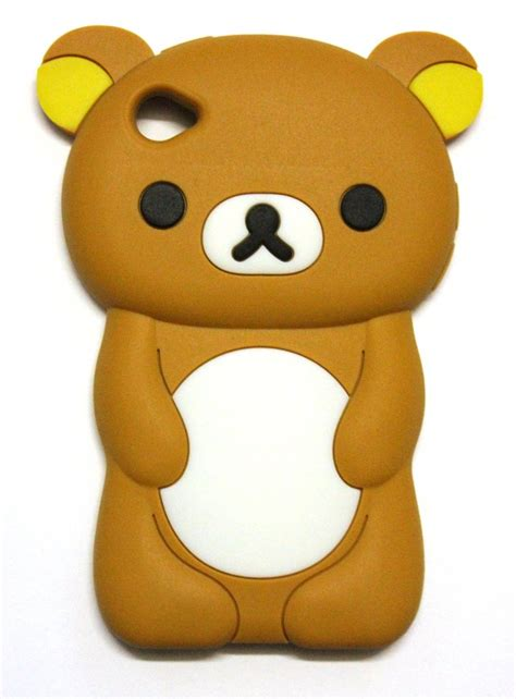 C Bears For Ipod 4 3d soft silicone skin cover for