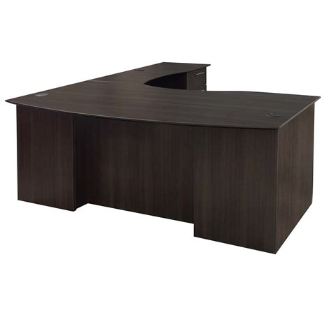 curved l shaped desk catalina laminate curved right return l shape desk gray