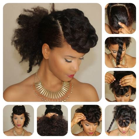 tutorial natural hair styles updos yasmin felice