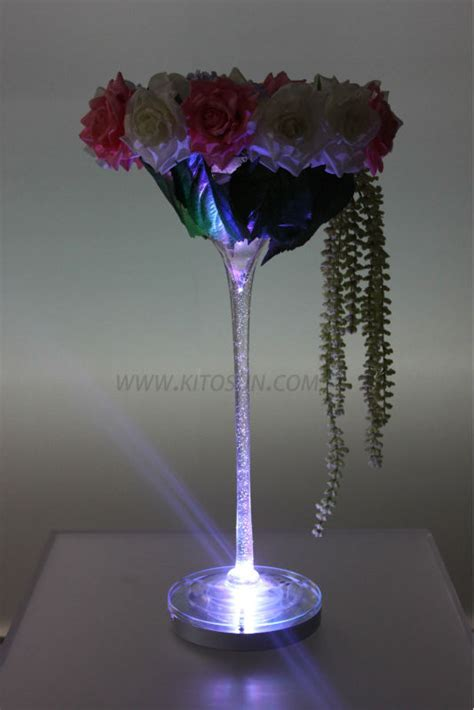 remote control multi colors 8inch rechargeable led wedding