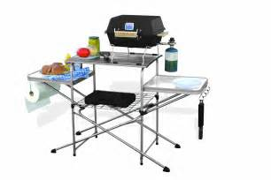 Portable Kitchen Table Portable Folding Grilling Table Cing Bbq Cooking Barbecue Tailgating Kitchen Ebay