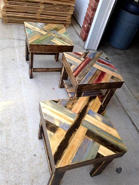 end tables made from pallets diy pallet end tables 101 pallet ideas
