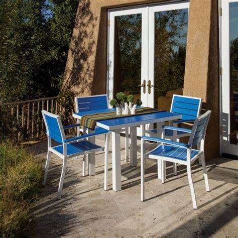 polywood euro aluminum square outdoor dining set