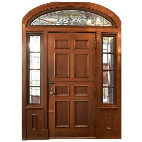 front door vestibule door vestibule complete walnut entry door and paneled