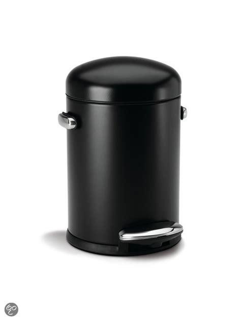 12 liter prullenbak toilet bol simplehuman retro step pedaalemmer 3 l zwart