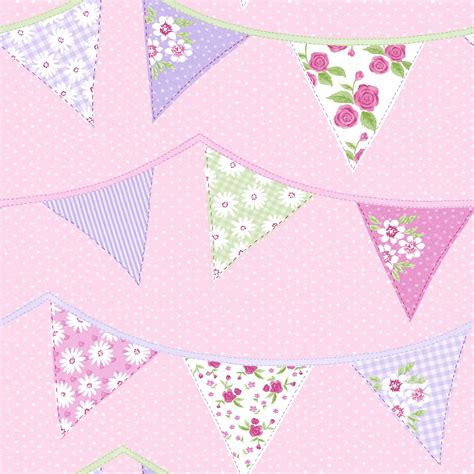 pastel pink wallpaper uk bunting wallpaper blue pink pastel floral design washable