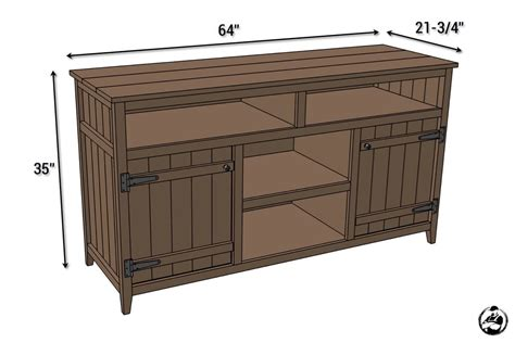 how to build a tv cabinet free plans rustic media center free diy plans rogue engineer