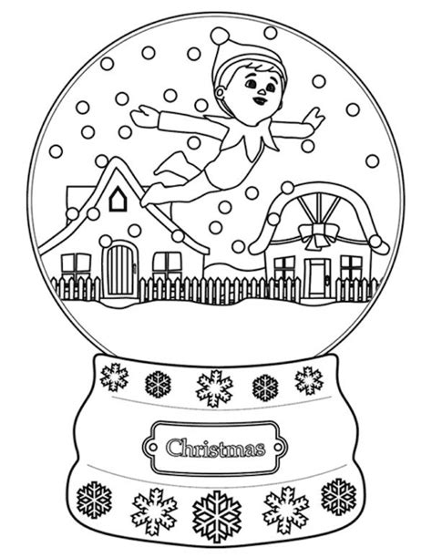 printable coloring pages elf on the shelf christmas coloring pages