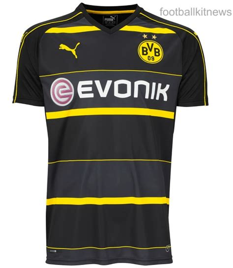 new borussia dortmund away shirt 2016 2017 bvb alternate