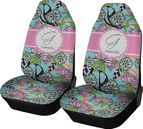 personalised seat covers summer flowers car seat covers set of two personalized