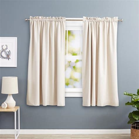 room cooling curtains amazonbasics blackout curtains 52 x 63 inches beige 2