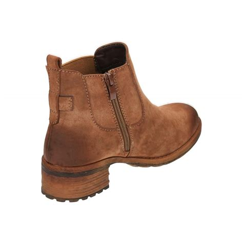 rieker 96864 24 brown low heel chelsea ankle boots