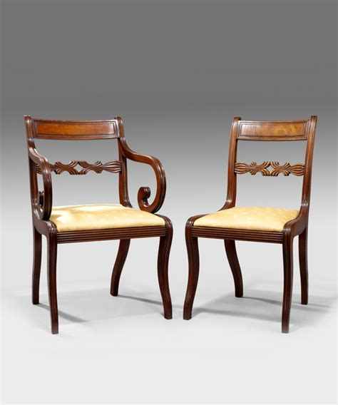 Regency Mahogany Dining Chairs A Set Of 12 Regency Mahogany Dining Chairs Reindeer Antiques